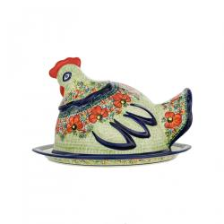 STATUETTE HEN - Plates with covers