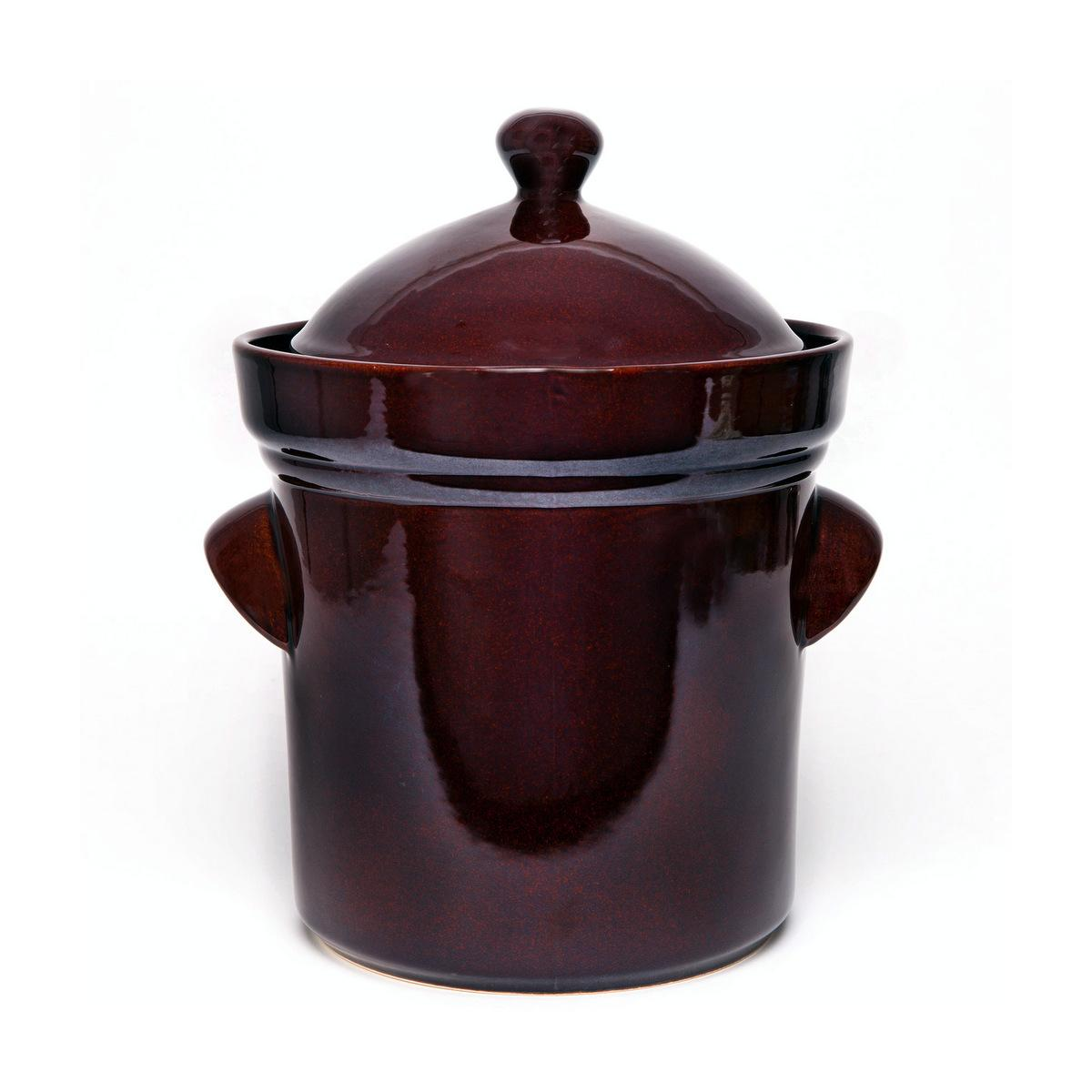 Fermenting crock pot with lid and stone weight - 5l