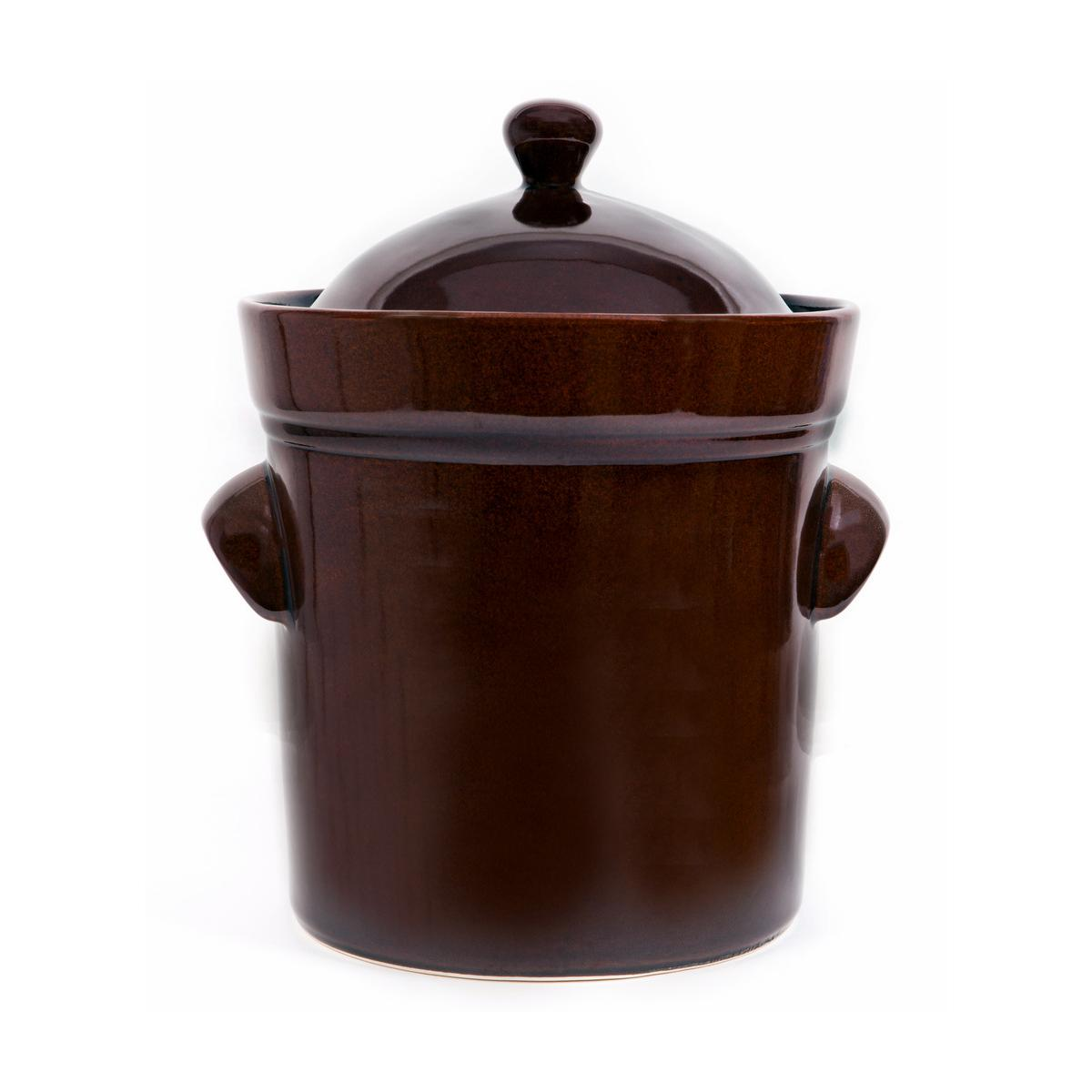 Fermenting crock pot with lid and stone weight - 10l